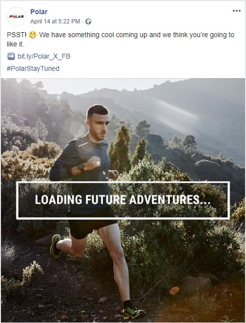 Polar Facebook ad
