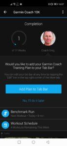 Garmin Coach: Plan details